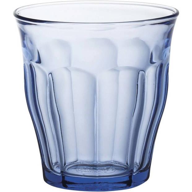 18x Drinkglazen/waterglazen Picardie blauw 250 ml - Koffie/thee glazen Picardie 250 ml