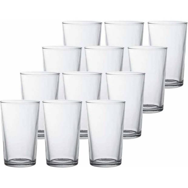 12x Drinkglazen/waterglazen Chope transparant 330 ml - Koffie/thee glazen Chope 330 ml