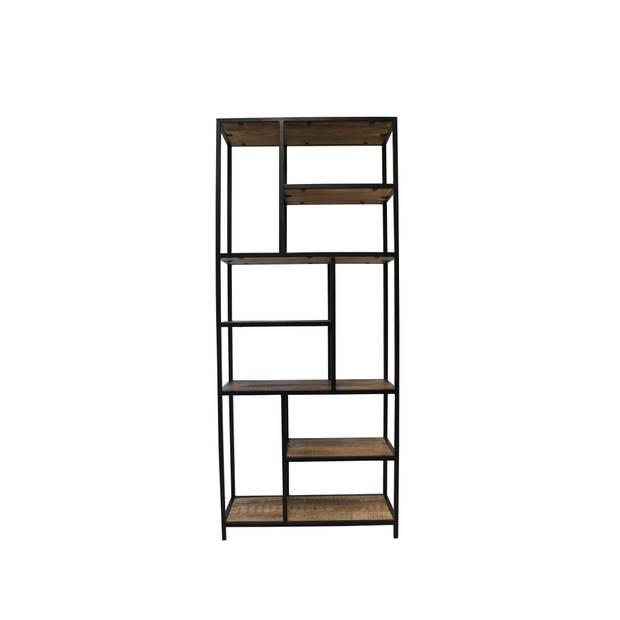 Dimehouse Sparrow Boekenkast Industrieel - 80 x 188 cm - Hout - Metaal