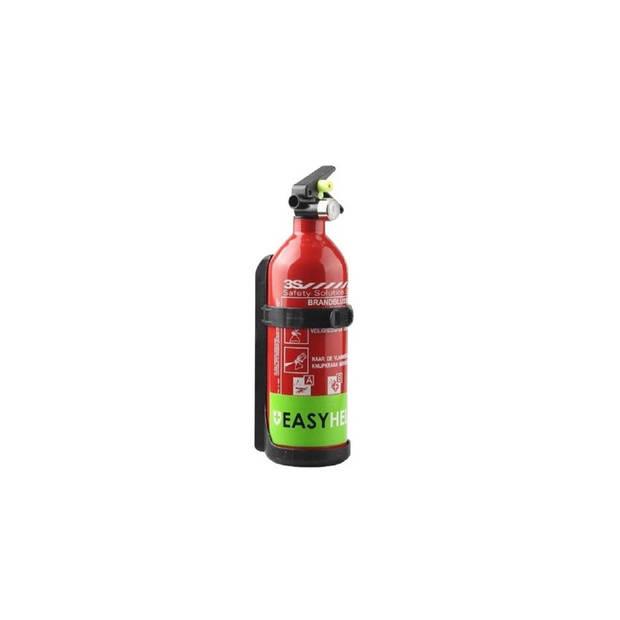 EasyHelp Poeder Brandblusser - 1 kg - Met manometer - Incl. ophangbeugel