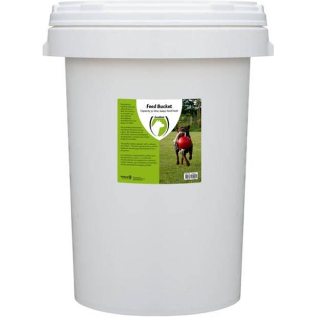 RelaxPets - Voerton - Voer Bewaar Ton - Feed Bucket - Draaisluiting - Vers houdt Ton - 52 Liter - 33x39x60cm