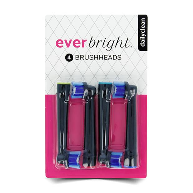 Everbright DailyClean opzetborstels zwart - 4 stuks