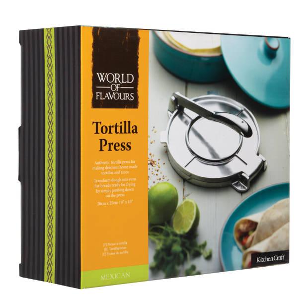 KitchenCraft Tortillapers - World of Flavours Kitchen Craft