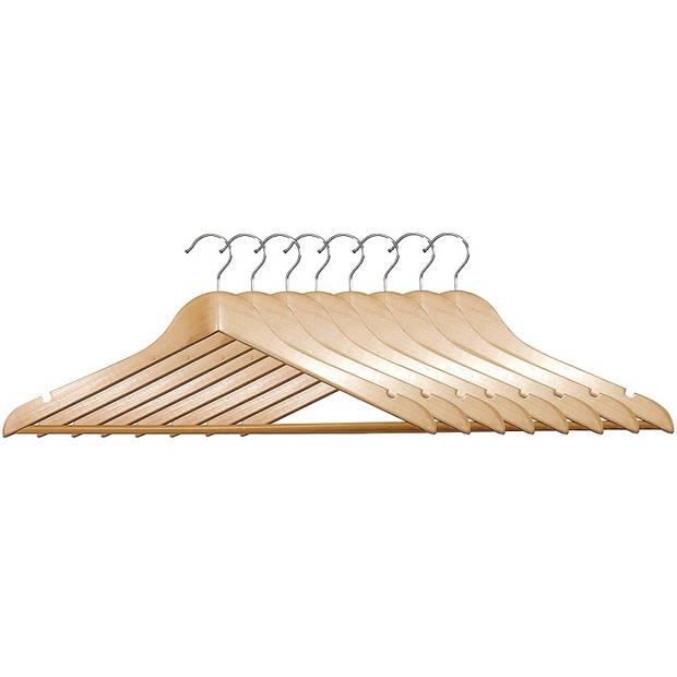 8 STUKS Luxe FSC® houten kledinghangers Stevige klerenhangers met