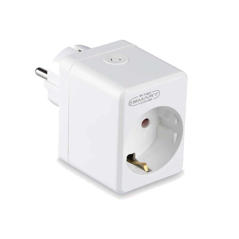 V-tac VT-5002 Slimme WiFi stekker compact Slimme schakelaar