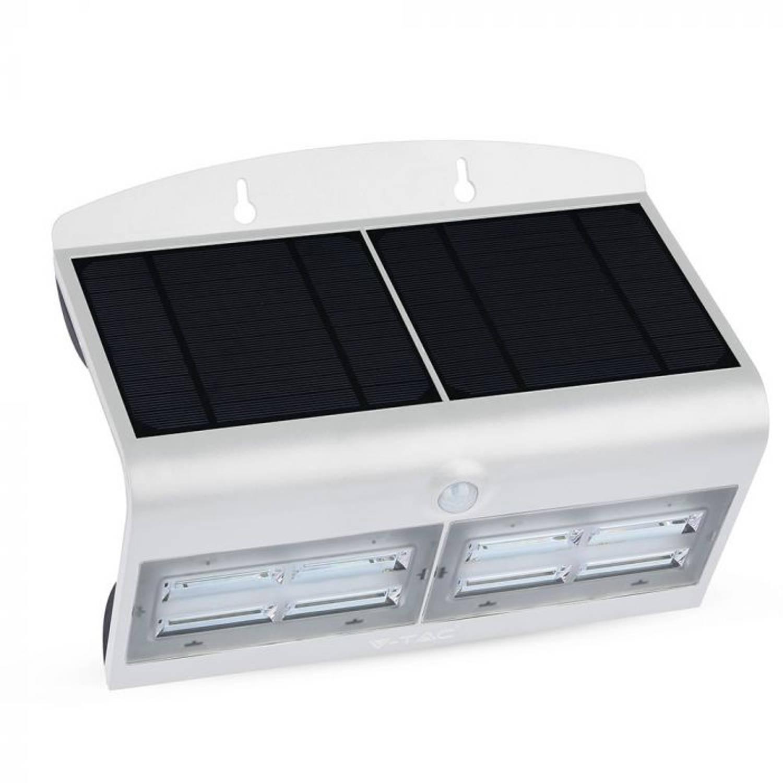 V-tac Vt-767-7 Led Solar Buitenverlichting - 7w - 800 Lm - Wit