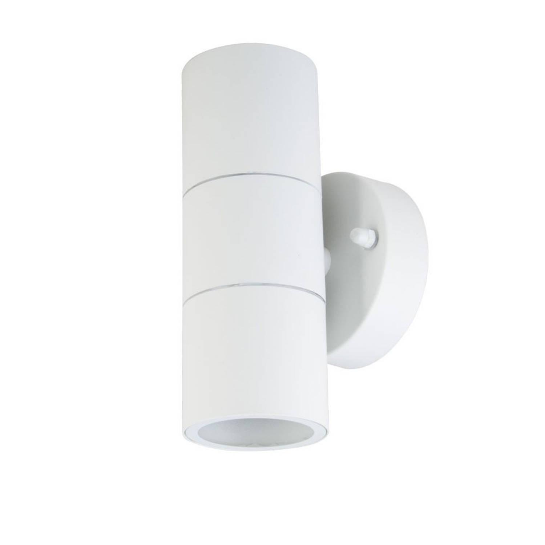 V-tac Vt-7622 Wandlamp Buiten Up/down - Gu10 - Rvs - Wit - Ip44