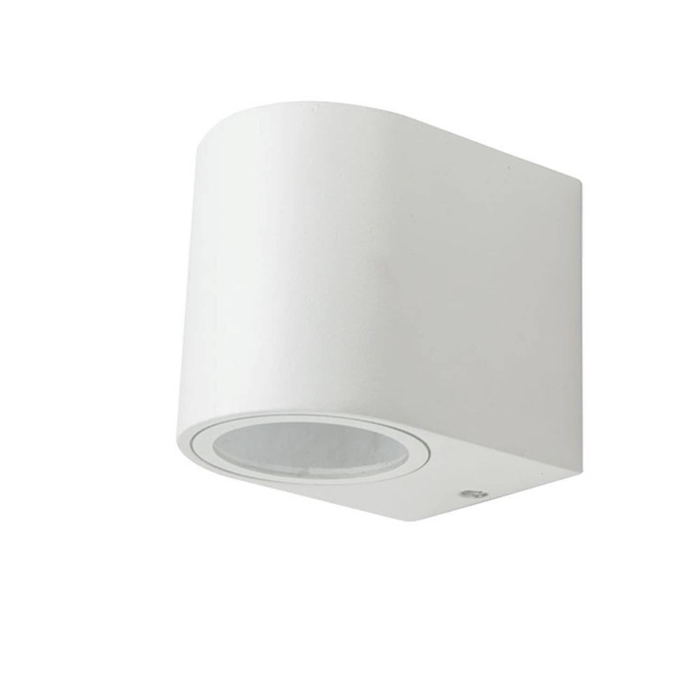 V-tac Vt-7651rd Wandlamp Buiten - Gu10 - Wit- Rond - Ip44