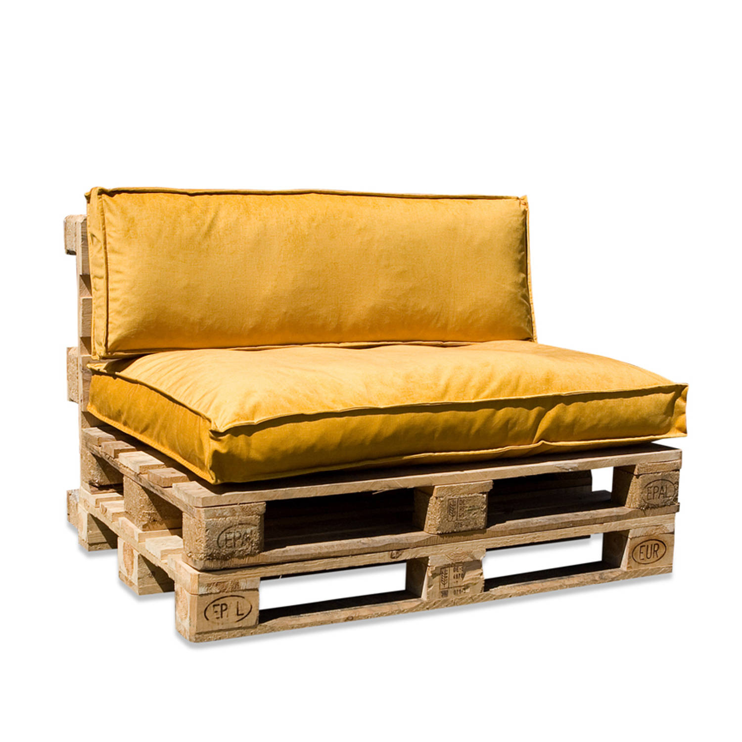 In The Mood Collection In The Mood Palletkussenset Royal Velvet Honing Geel
