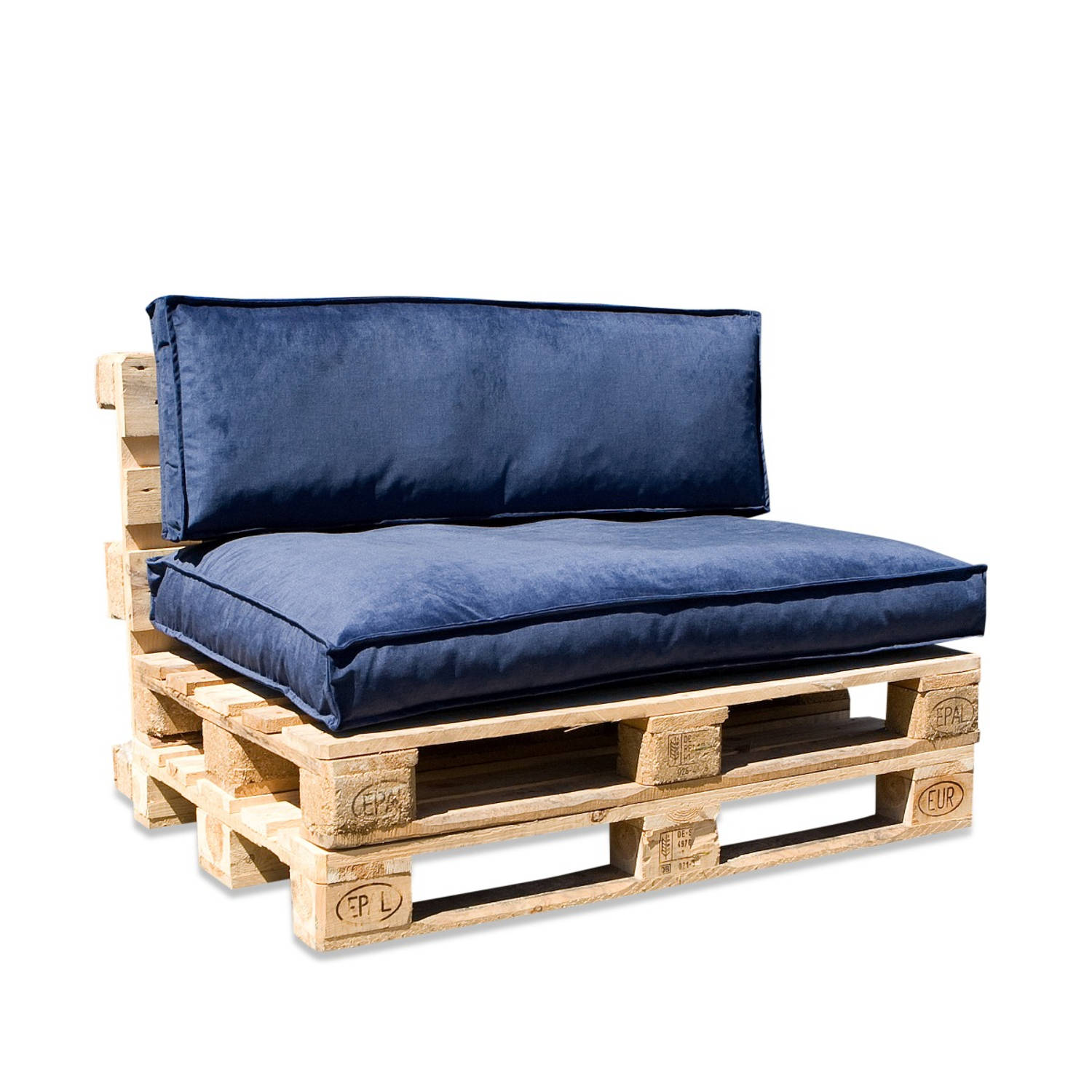 In The Mood Collection In The Mood Palletkussenset Royal Velvet Royal Blue