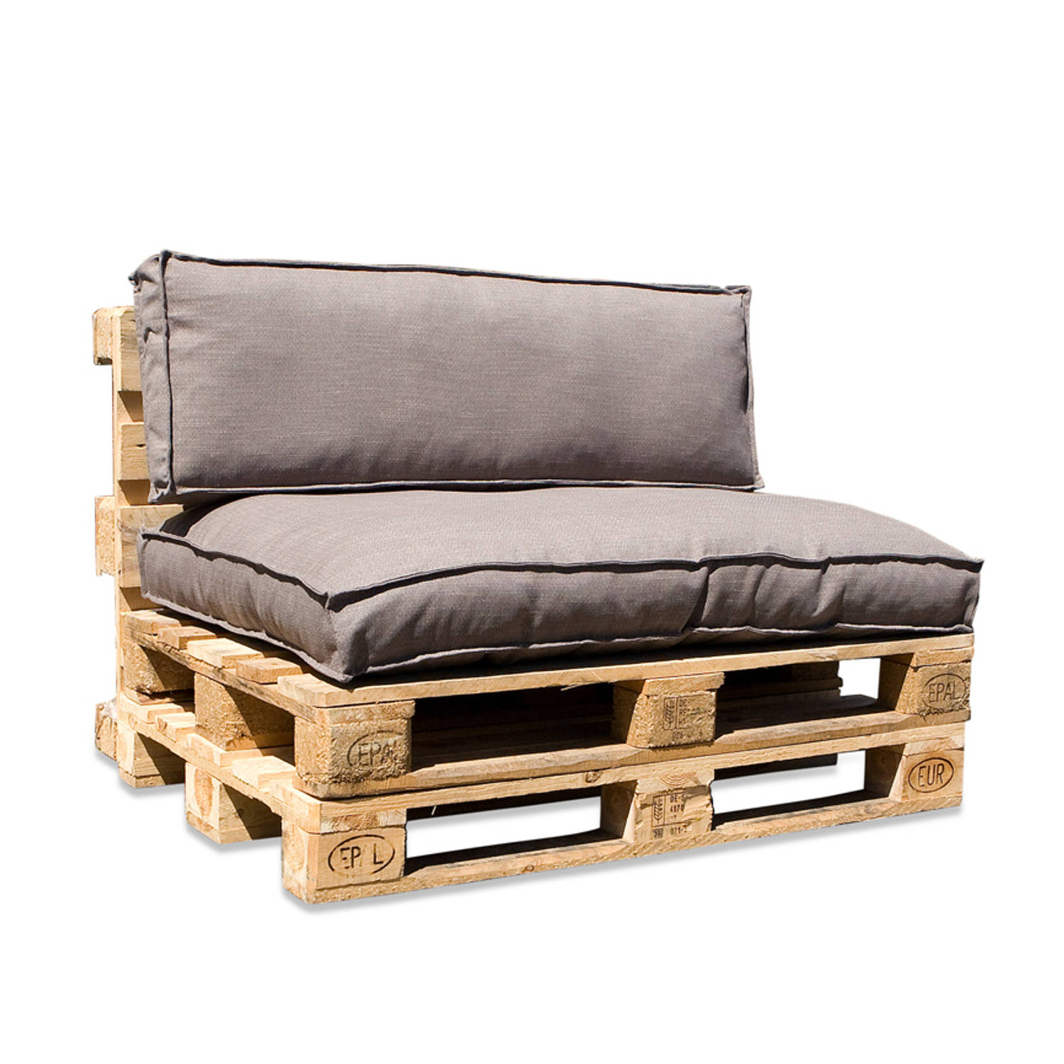 In The Mood Collection In The Mood Palletkussenset Salvador Taupegrijs