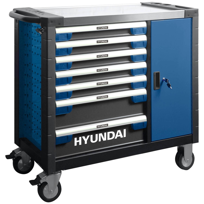 Hyundai Gevulde Gereedschapskar 305-delig - Gereedschapswagen - Gereedschapstrolley - Verrijdbare We