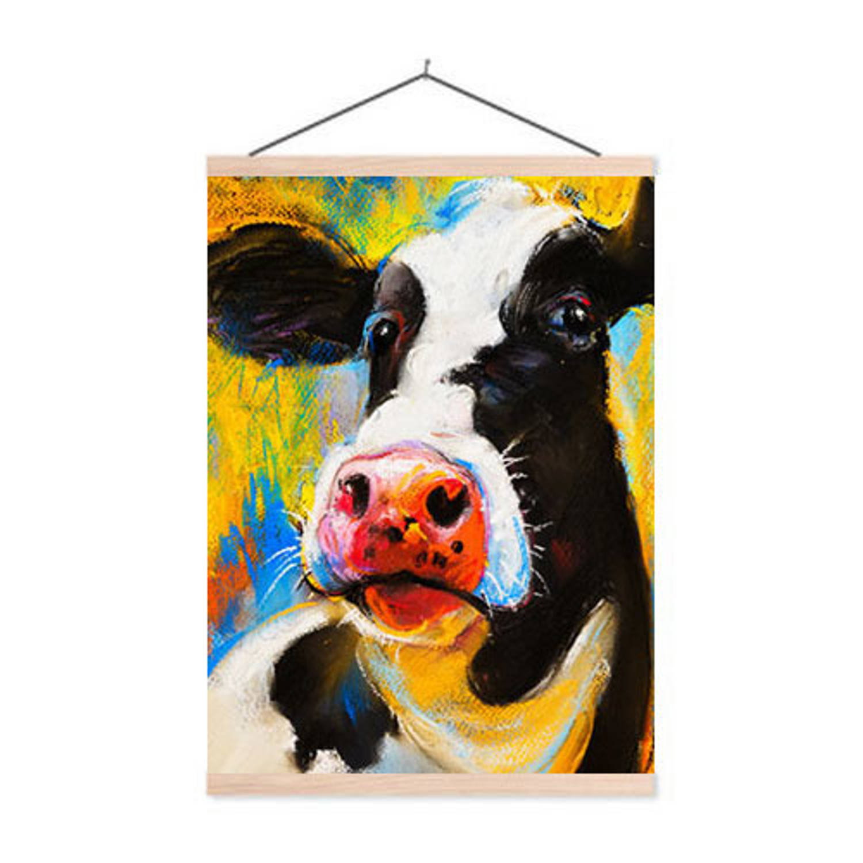 Schoolplaat Cow Portrait - 60xh90 Cm