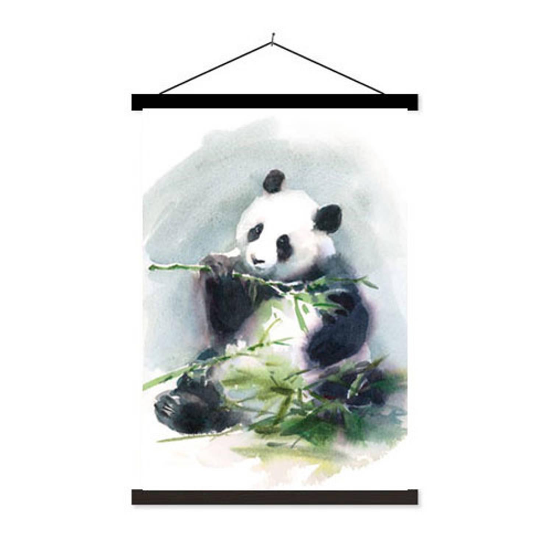 Schoolplaat Eating Panda - 60xh90 Cm