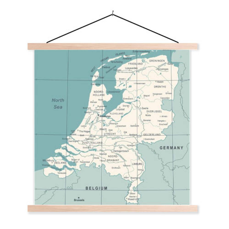 Schoolplaat Wereldkaart Nederland