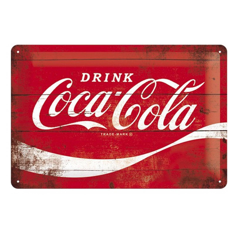 Muurplaatje 20 X 30 Coca Cola
