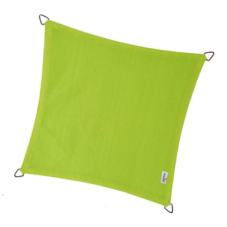 Coolfit schaduwdoek vierkant lime groen 3.6 x 3.6 meter