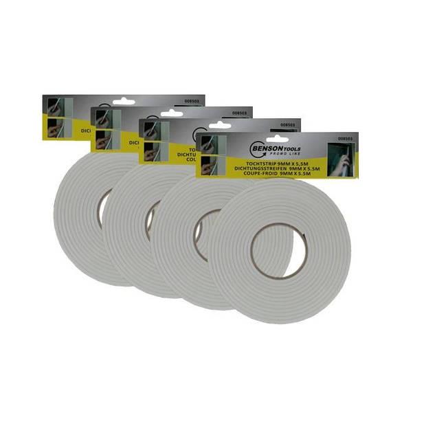 Benson - Tochtstrip - 4 stuks - 9mm x 5,5mm
