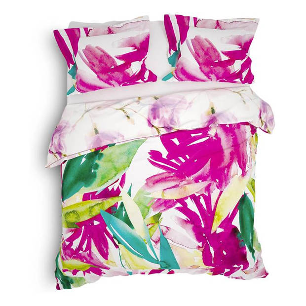 Heckett & Lane Heckett & Lane Adeel dekbedovertrek - Lits-jumeaux (260x200/220 cm + 2 slopen) - Katoen - Wild Pink