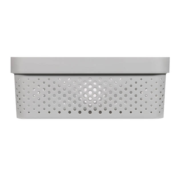 Curver Infinity Dots Opbergbox - 11L - Lichtgrijs - 100% Recycled