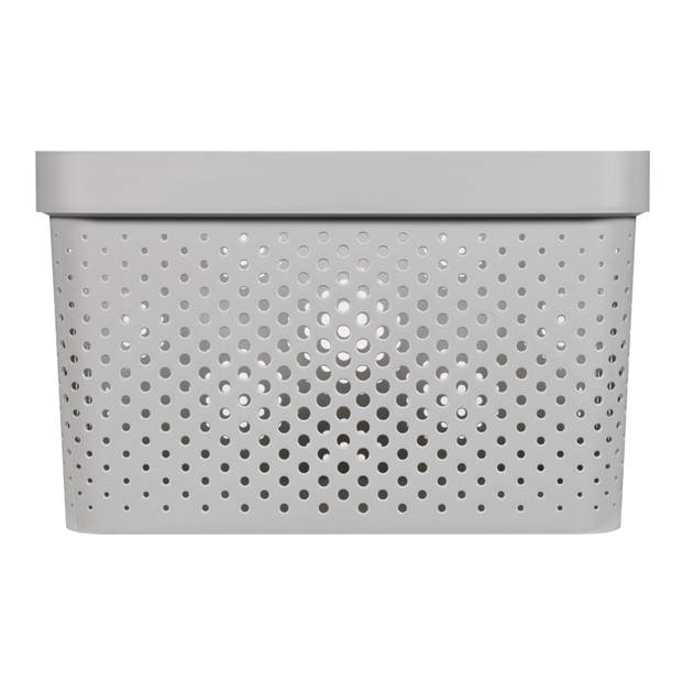 Curver Infinity Dots Opbergbox - 17L - Lichtgrijs - 100% Recycled