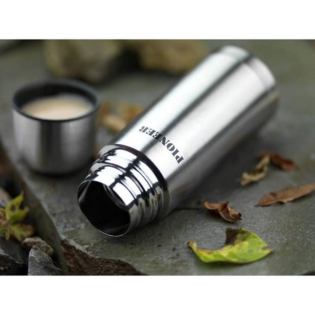 PioneerbyGrunwergThermosfles-350ml-zilverkleurig
