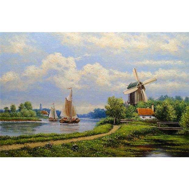 Schilderij Hollands Landschap