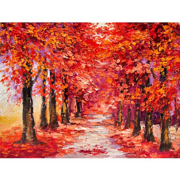 Schilderij Kleurrijk Herfstbos