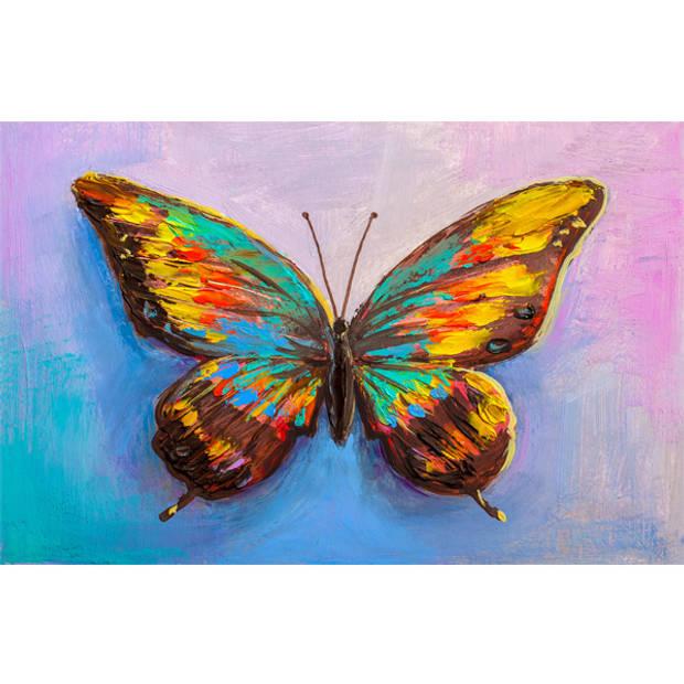 Schilderij Kleurige Vlinder