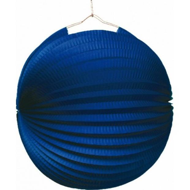 15x Lampionnen blauw 22 cm