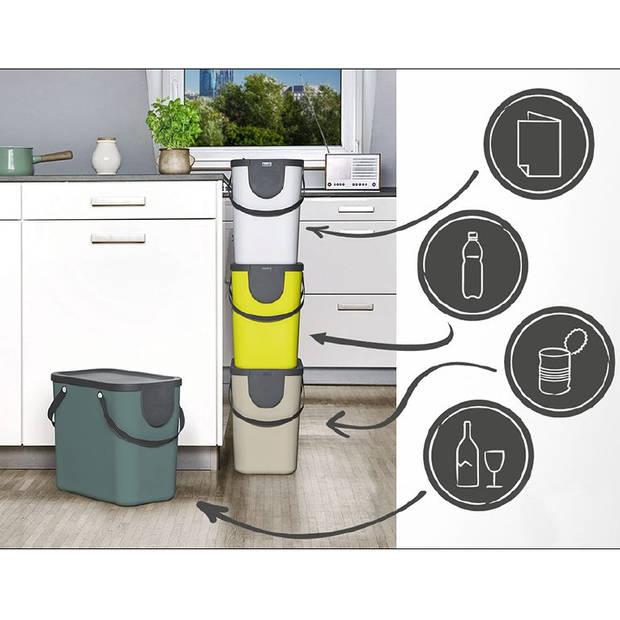 Rotho Albula afvalbak - 25 liter - groen