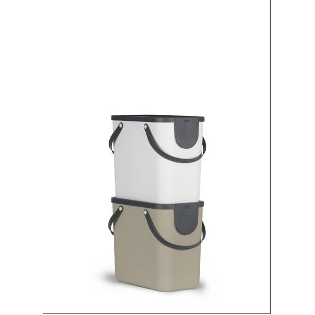 Rotho Albula afvalbak - 25 liter - antraciet