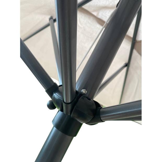 4Goodz balkonparasol 150X250CM met knikarm - antracietgrijs