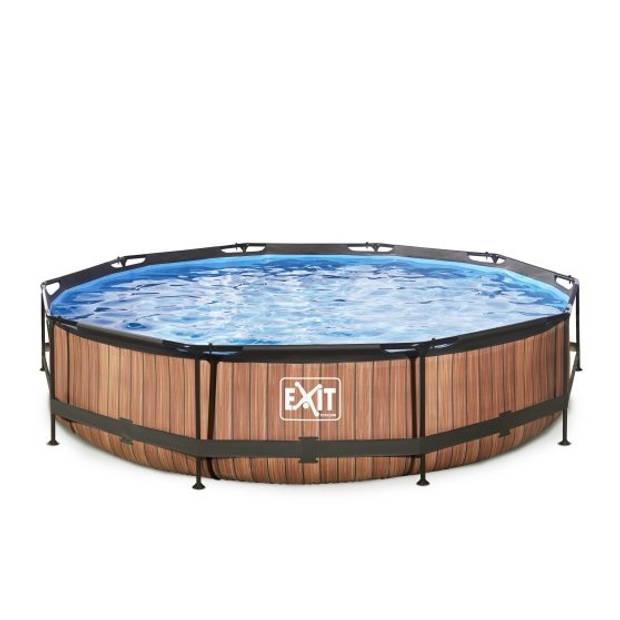 EXIT zwembad ø360x76cm met filterpomp