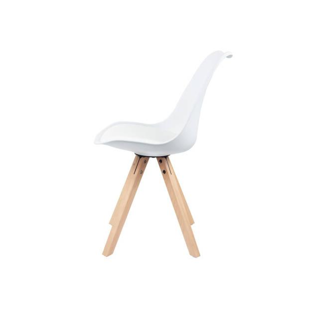 Eetkamerstoel wit Stilo met zitvulling kuipstoel | BESLIST.nl |