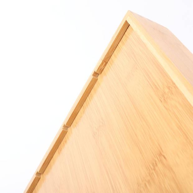 Bamboe bestekbak voor keukenla - 6 Vaks - Bestek organizer van