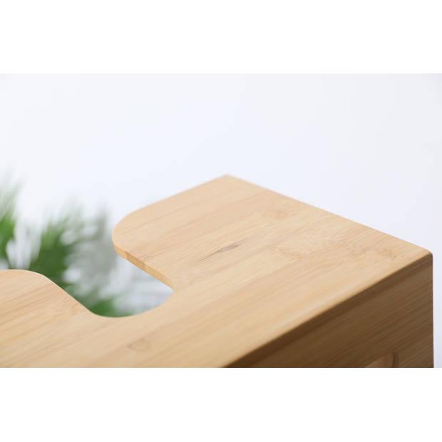 Bamboe Tissue box voor aan de wand - Tissuehouder voor wandmontage -