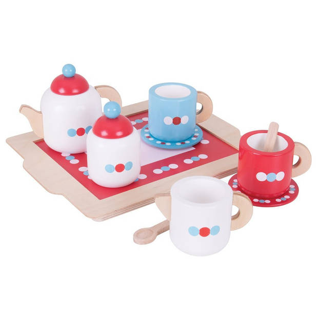 Bigjigs Tea set on a tray