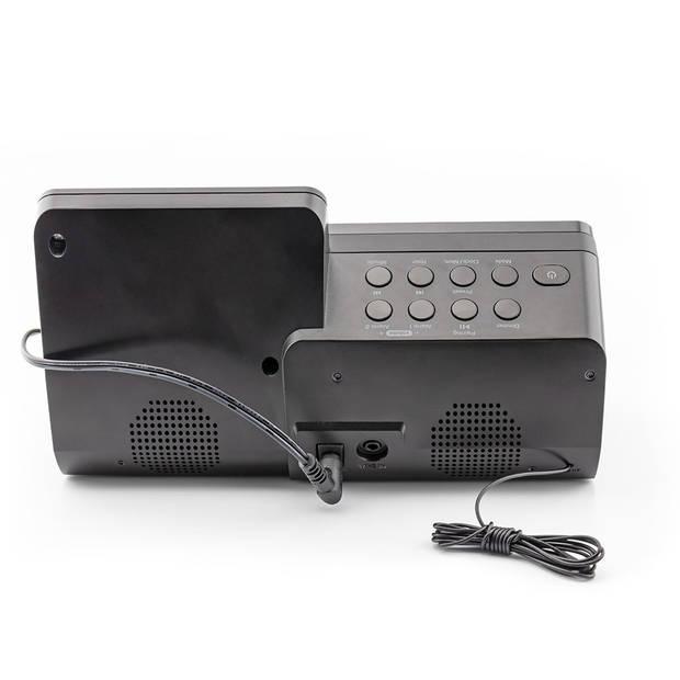 Caliber Wekkerradio Met Bluetooth En Qi Lader - Zwart (HCG012QI-BT)
