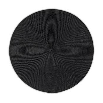 Korting Set Van 4 Placemat, Zwart Kela Kimya