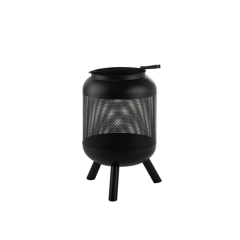 Beliani Veer - Vuurkorf-zwart-staal