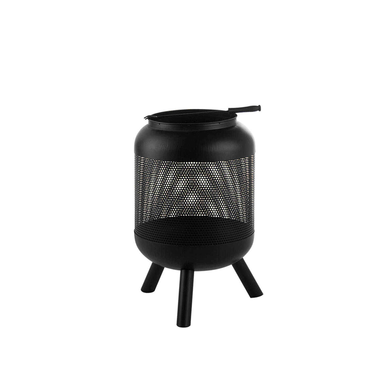 Beliani Veer Vuurkorf Staal 45 X 45 Cm