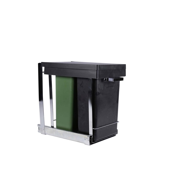 Mo Style duo inbouw afvalbak keukenkast - 2 x 8 liter GFT en restafval - prullenbak - vuilnisbak inb