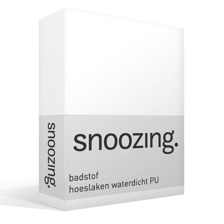 Snoozing badstof waterdicht PU hoeslaken 80% katoen 20% polyester 1-persoons (80x220 cm) Wit