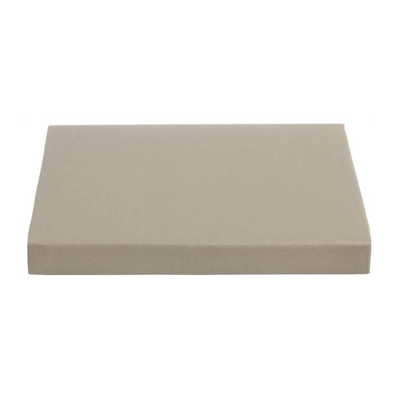 Ambiante percaline katoen topper hoeslaken - 100% percaline katoen - 2-persoons (120x200 cm) - Taupe