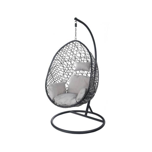 Egg Hangstoel voor binnen cocoon relax zwart