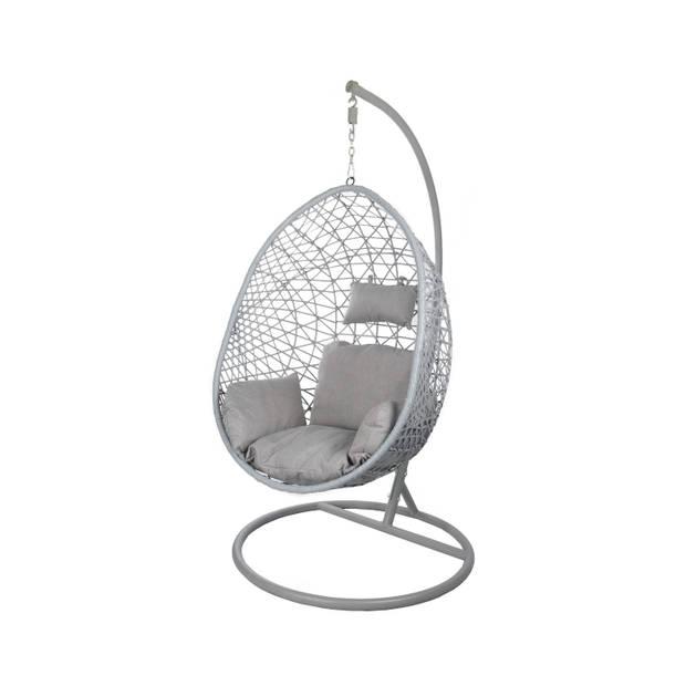 Egg Hangstoel voor binnen cocoon relax grijs