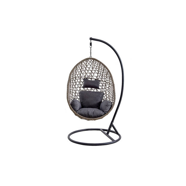 Egg Hangstoel voor binnen cocoon relax crème beige