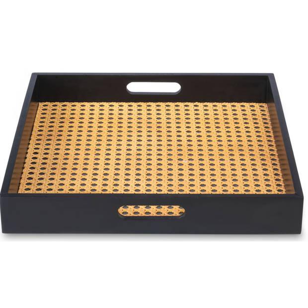 Blokker dienblad Nicolle - zwart - 35x35x5 cm