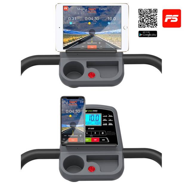 SportTronic ST-500 loopband opklapbaar (BONUS: drinkfles) - Inclusief App voor iOS en Adroid